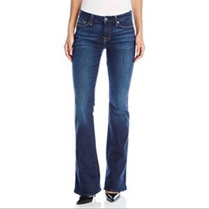 7 for all Mankind Flare Jeans w emb pockets 28
